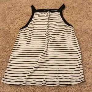 Black & white stripped tank